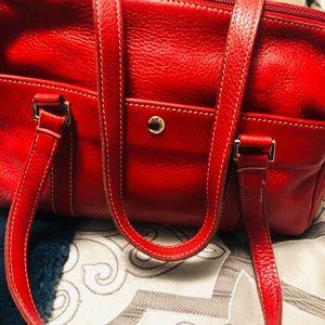 ROOTS red shoulder bag